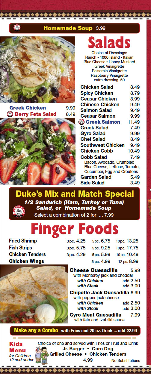 dukes restaurant coupons
