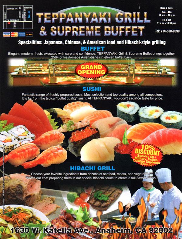 Teppanyaki Grill & Supreme Buffet | OC Restaurant Guides