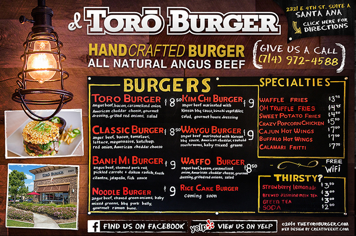 Toro Burger Oc Restaurant Guides