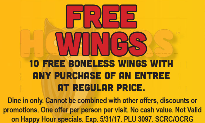 Hooters discount coupon