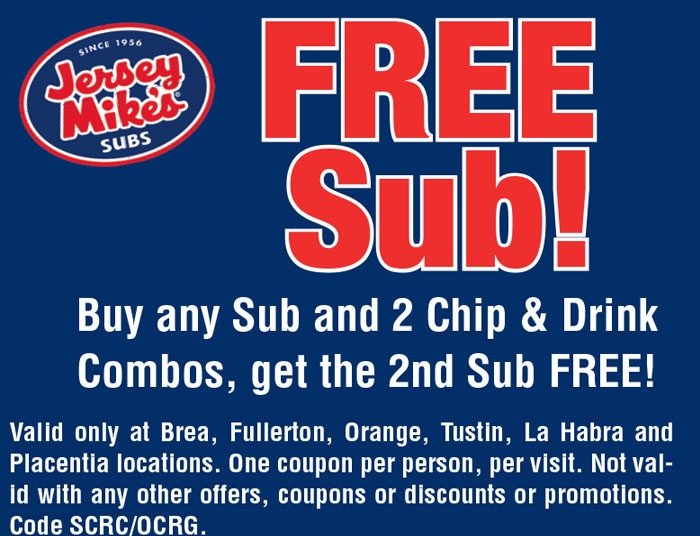 Jersey mike's coupon