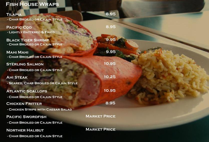Fish house market grill oc restaurant guides for California fish grill menu