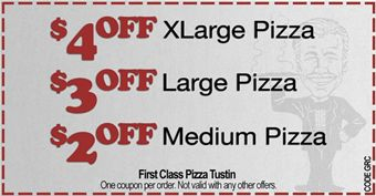 First class pizza coupons fountain valley