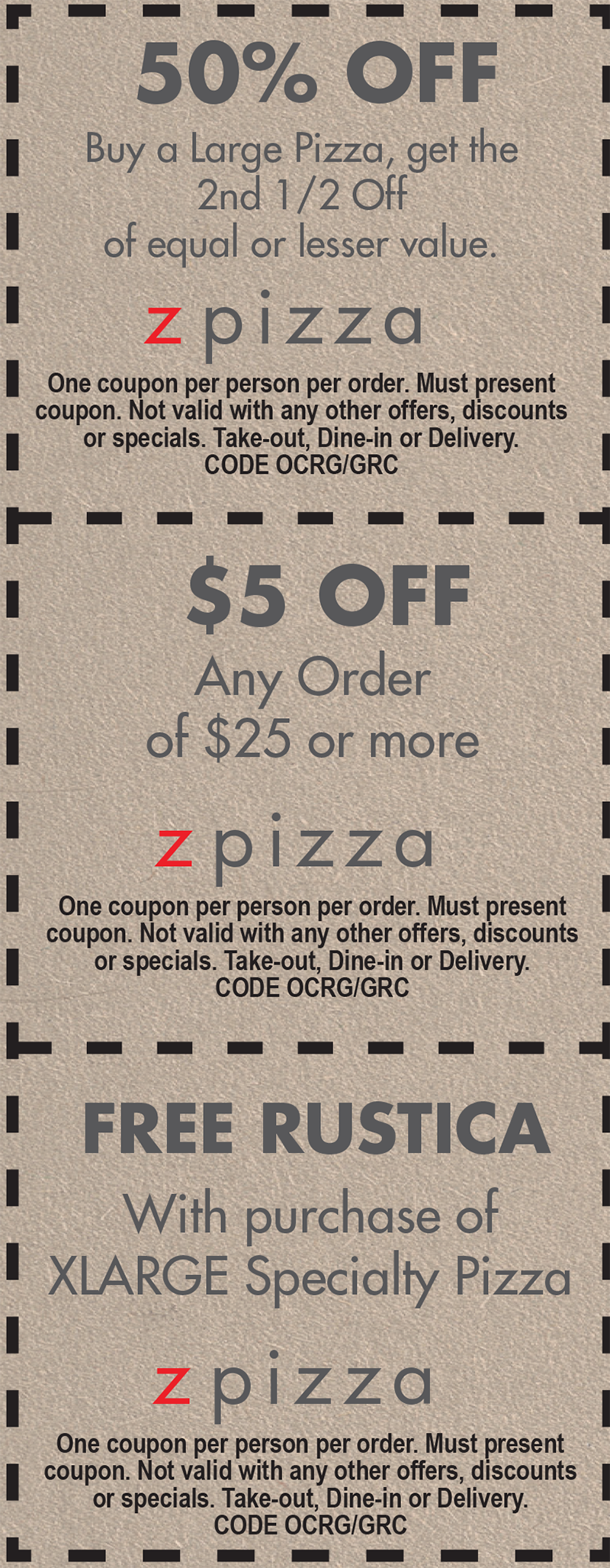 z pizza coupon code