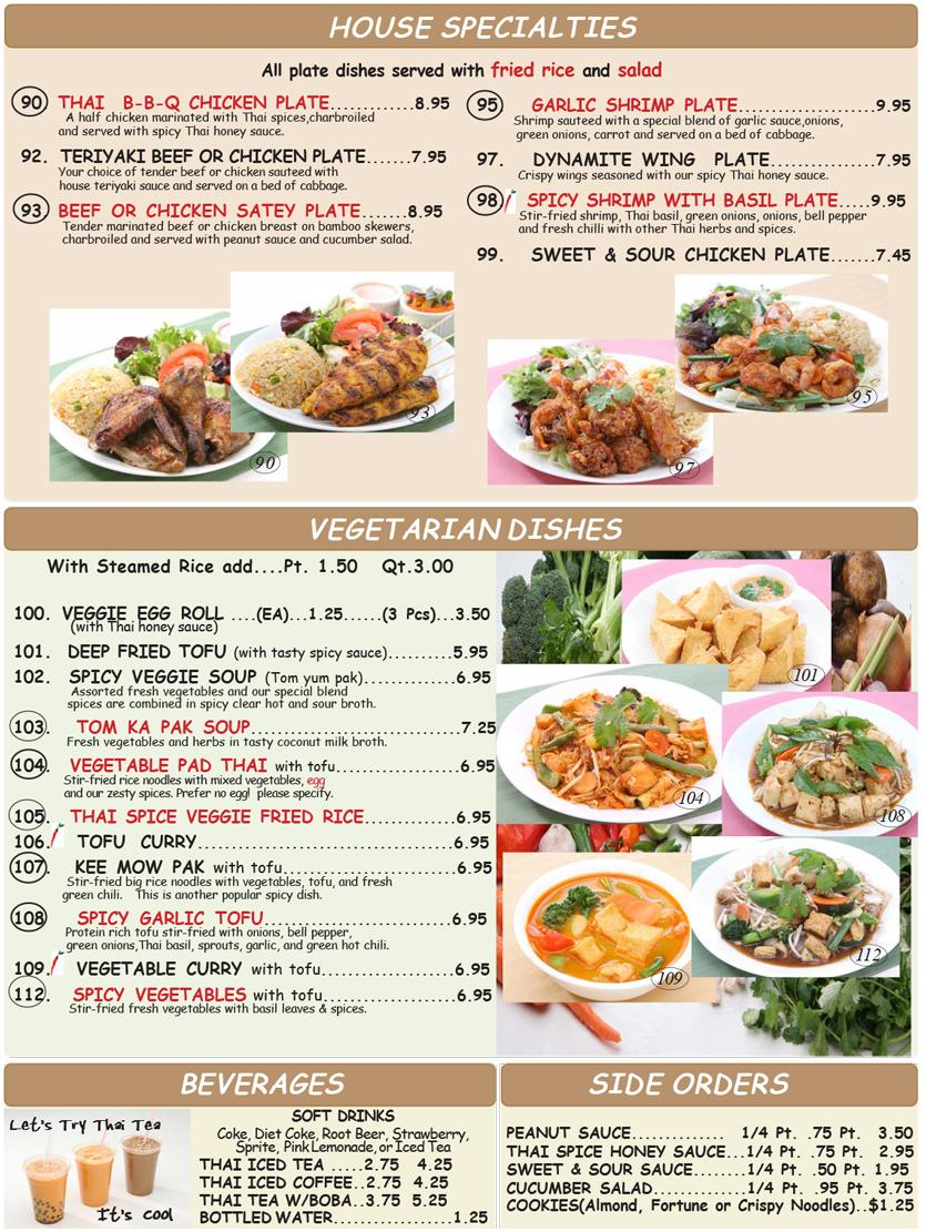 Printable menus for restaurants for Restaurant guide