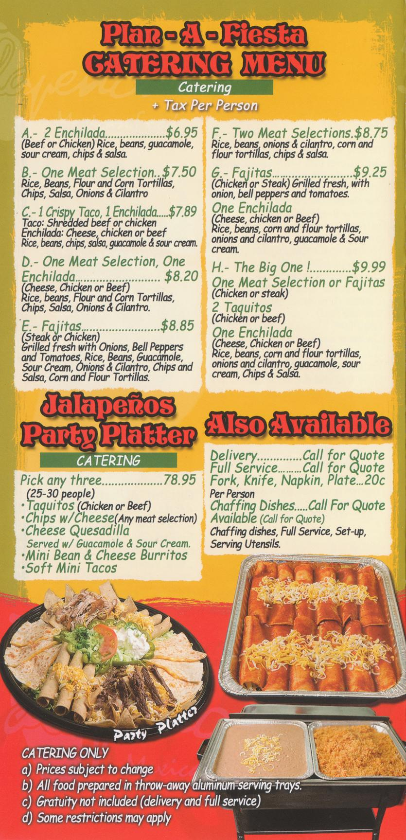 caterers coupons angeles