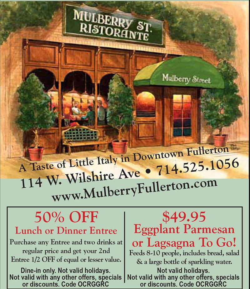 Mulberry Street Cafe Fullerton
