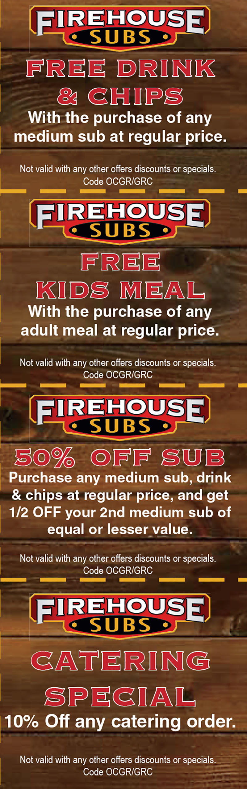Firehouse subs coupon code