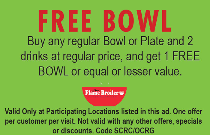 Flame broiler coupons