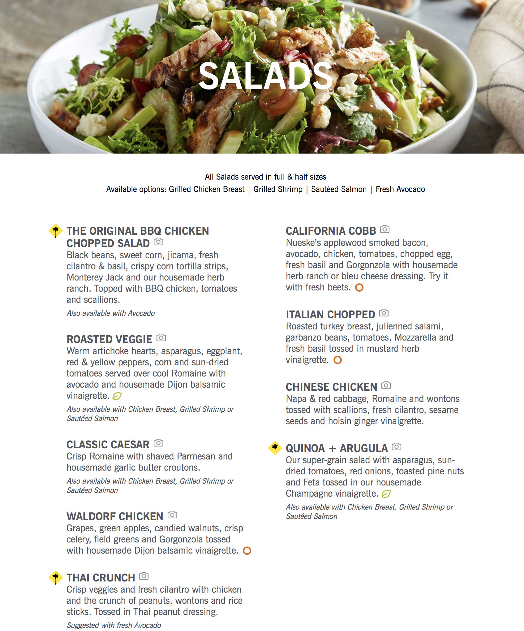 California Pizza Kitchen Menu | OC Restaurant Guides