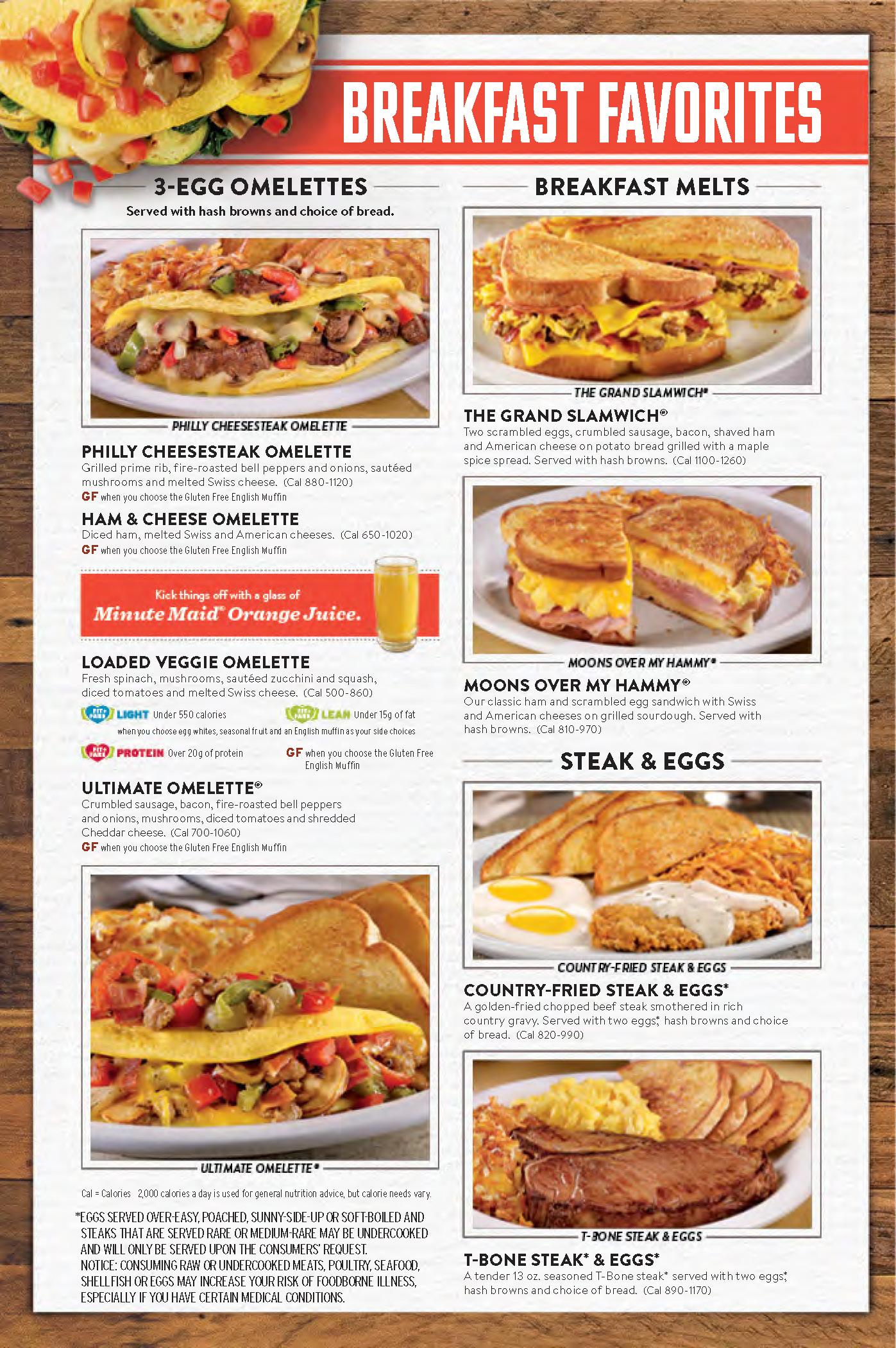 Denny\'s Menu | OC Restaurant Guides
