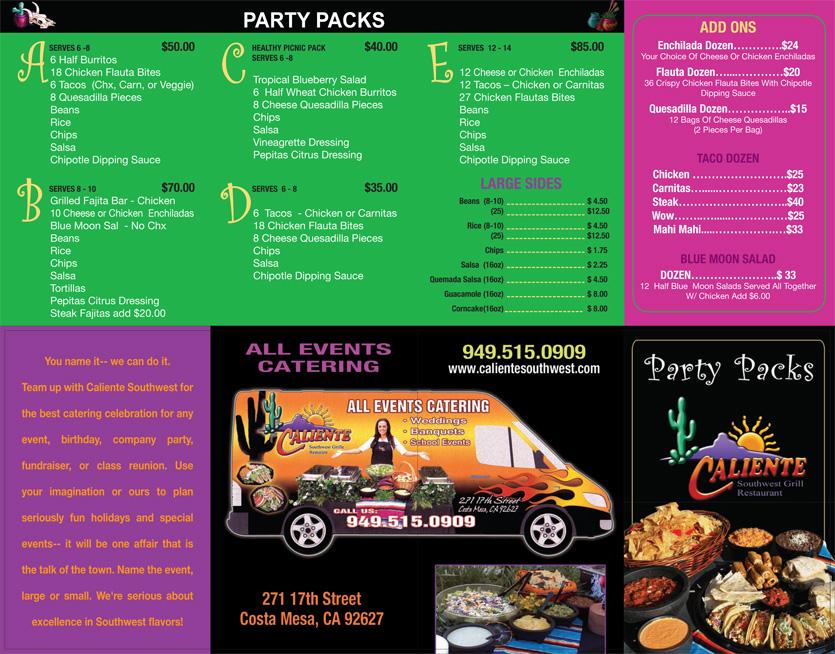 Caliente-Southwest-Grille-Party-Pack-Menu-874281