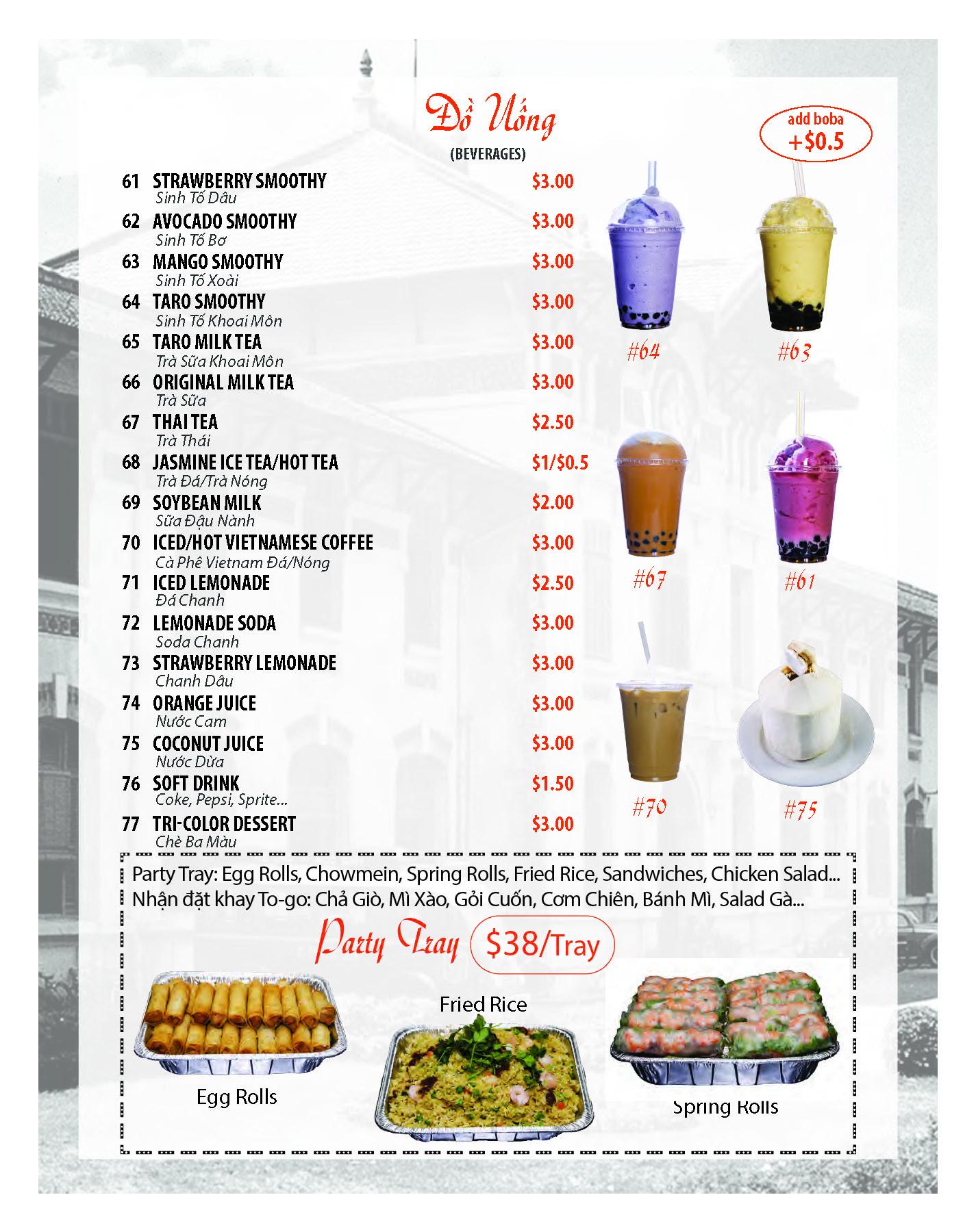 Pho Gia Long Menu Oc Restaurant Guides